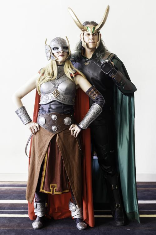 Jane Foster Thor after the Sideshow Collectibles Statue with Loki.